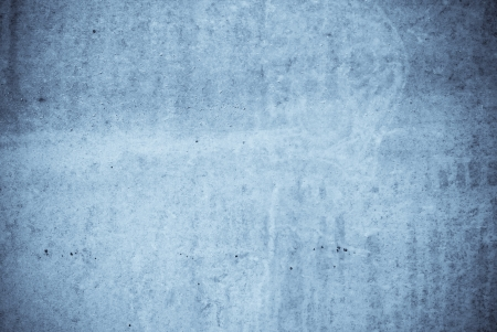 dirty concrete with spots and stains in blue tone Stock Photo