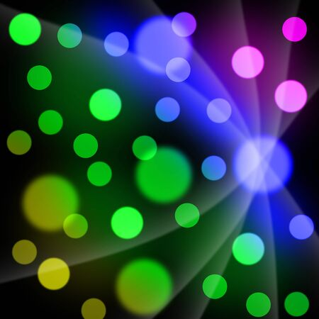 Abstract background of colored circles  photo