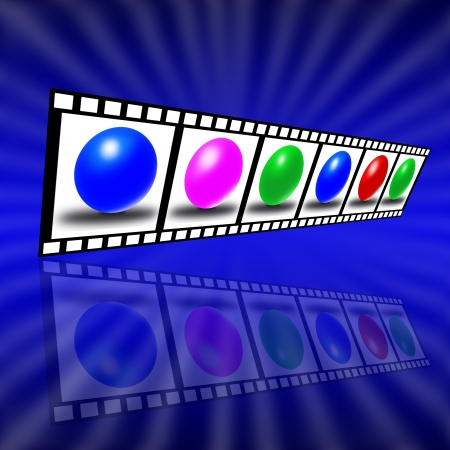 A composition in the form of a film on a colored background Stock Photo - 17015607