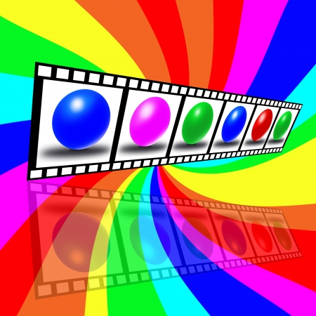 A composition in the form of a film on a colored background Stock Photo - 17015595