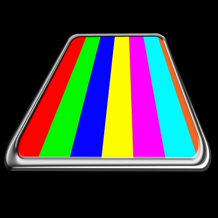 Abstract screen which shows the color bars  Stock Photo - 17015618