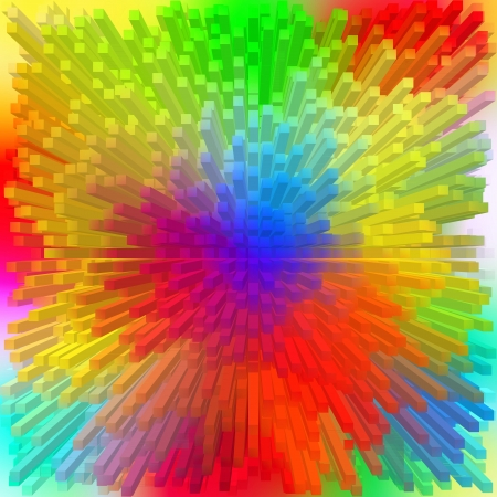 Color Spectrum with rainbow background