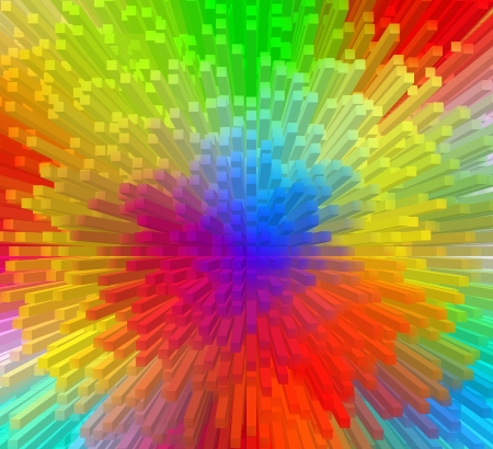 Color Spectrum with rainbow background Stock Photo - 17015556
