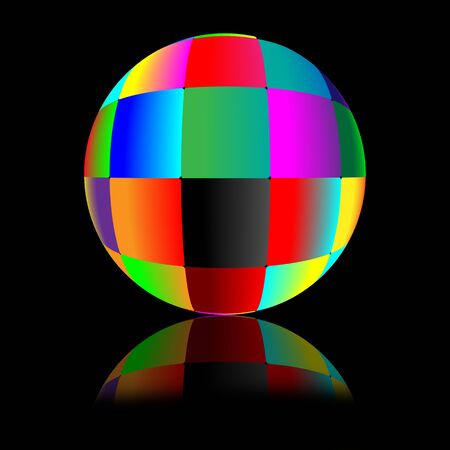 Abstract ball consisting of a set of colored squares for designers for various necessities  photo