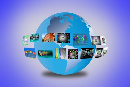 Abstract image of a model of the world for designers for various necessities  photo