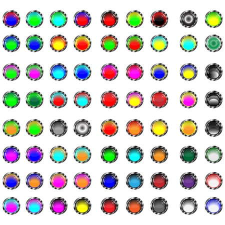 spherule: A small collection of colored glass buttons in the form of balls for different needs  Illustration