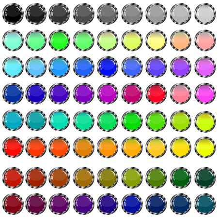 A small collection of colored glass buttons in the form of balls for different needs Stock Vector - 17033496