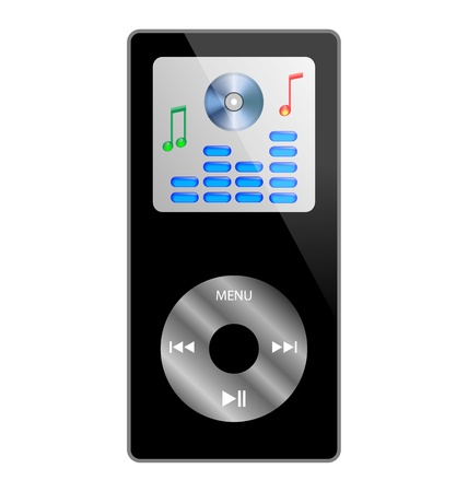 Abstraction of the MP3 player, which is located on a white background for various necessities Stock Vector - 17033491
