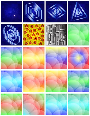Abstract color beautiful backgrounds for web designers for various necessities  Stock Vector - 17035029
