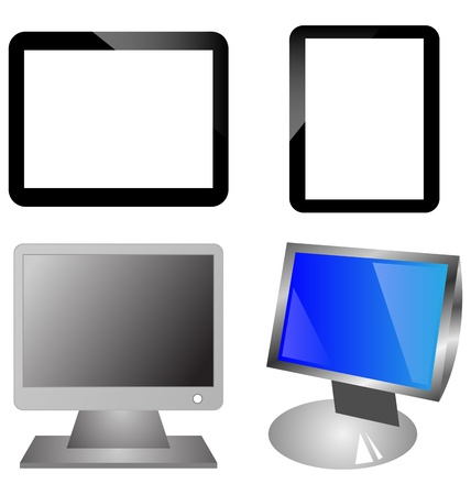 necessities: Four abstract colorful icons for computer designers for various necessities