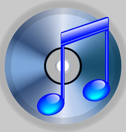 cd r: Image which shows the blue note and a CD with a gray background for various needs