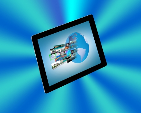 Abstraction consisting of conventional tablet for web designers for various necessities  photo