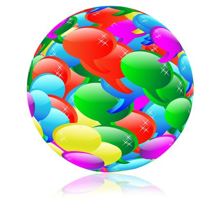 Abstract sphere consisting of a multi-colored clouds for web designers for different necessities on a white background  Stock Photo - 17309463
