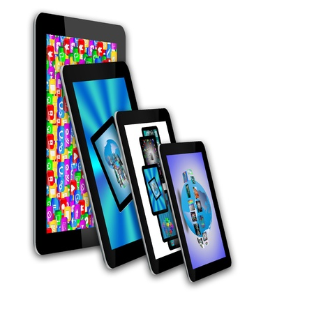 umpc: Abstraction which shows tablets and multiple images for designers for various necessities