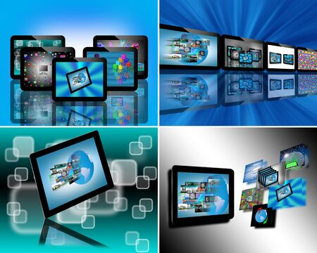 A small collection of images of tablets for web designers for various necessities Stock Photo - 17532262