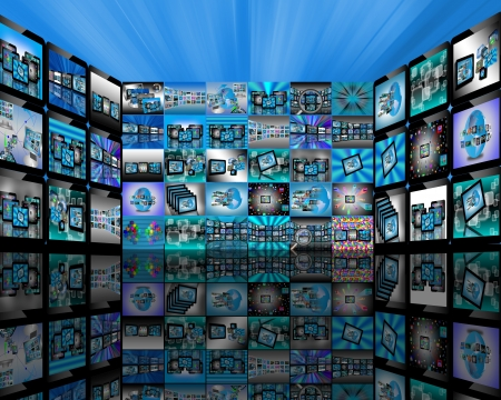 Abstract view of the many different images to the Internet for designers for various necessities  Stock Photo