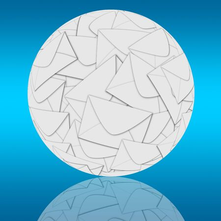 Sphere consisting of many envelopes for designers for various necessities  Stock Photo - 18756112