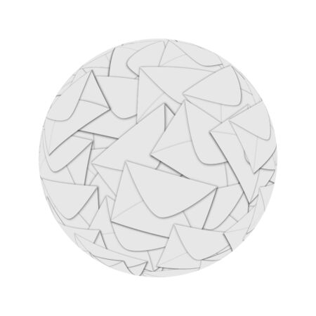Sphere consisting of many envelopes for designers for vaus necessities  Stock Photo - 18756129