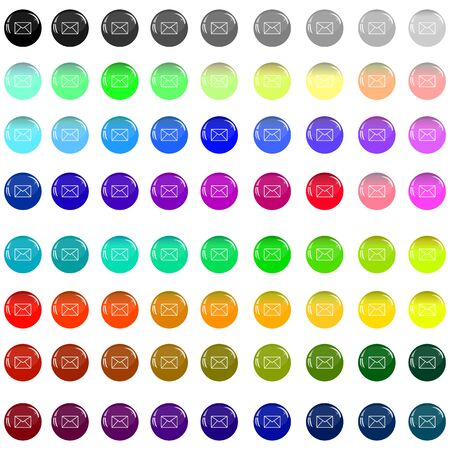 A small collection of colored glass buttons in the form of balls for different needs  Stock Photo