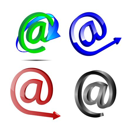 Four web icons e-mail on a white background for designers for various necessities  Stock Photo - 19258141