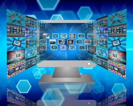 Internet Abstraktion zeigt die Übertragung von Daten aus dem Internet