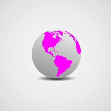 realist: Abstract image of a model of the world for designers for various necessities.