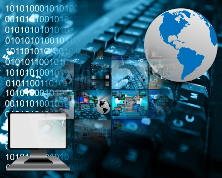 Abstraction on the Internet, high-tech and computer for web designers for various necessities.