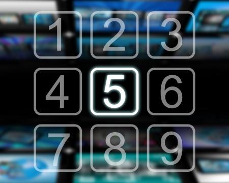 teclado numerico: La interfaz en la forma de nueve botones con números del uno al nueve.