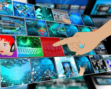 user friendly: The interface in the form of a plurality of images on computer technology and the Internet.