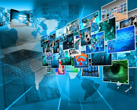 Abstract view of the many different images to the Internet for designers for various necessities.  photo