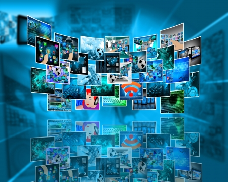 Abstract view of the many different images to the Internet for designers for various necessities  photo