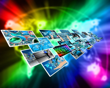 Abstract composition which shows a variety of different images on the theme of computers and high technology Stock Photo - 24704025