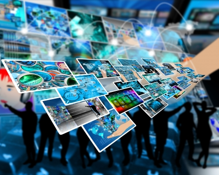 Abstract composition which shows a variety of different images on the theme of computers and high technology Stock Photo - 24704033
