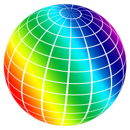 Abstract colored sphere on a white background for designers for different needs. photo
