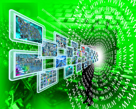 user friendly: Abstract image on the theme computers, the Internet and high-tech.