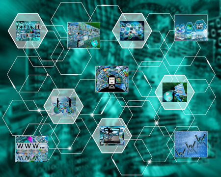 Abstract image on the theme computers, the Internet and high-tech. photo