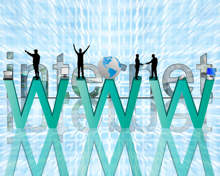 net book: Abstract image on the theme of computers, the Internet, communications and high technology. Stock Photo