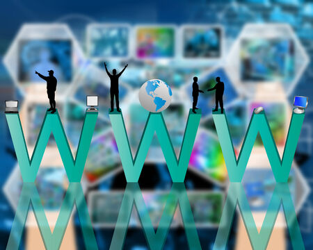 high technology: Abstract image on the theme of computers, the Internet, communications and high technology. Stock Photo