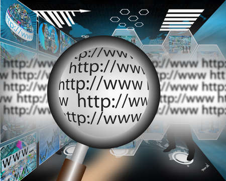 net book: Abstract image on computers, the Internet, communications and high technology. Stock Photo