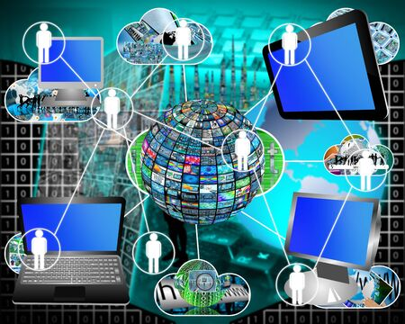 high technology: Many abstract images on the theme of computers, Internet and high technology.