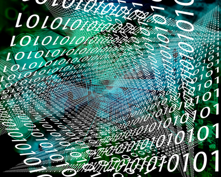 Abstract background in the form of binary code for different necessities. Stock Photo