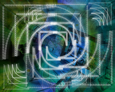 e systems: Abstract background in the form of binary code for different necessities. Stock Photo