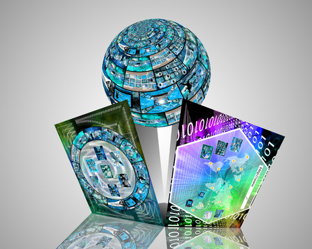 tcp: Many abstract images on the theme of computers, Internet and high technology.