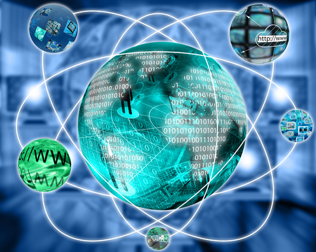 international internet: International Network of internet spread around the world on all continents