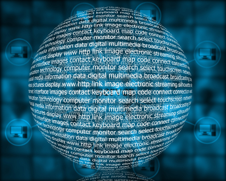 noun: Many abstract images on the theme of computers, Internet and high technology.