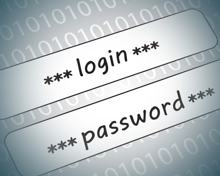 logon: Many abstract images on the theme of computers, Internet and high technology.
