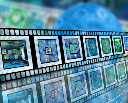 downloading content: Many abstract images on the theme of computers, Internet and high technology.