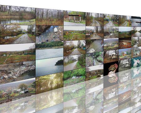 mundo contaminado: Muchas imágenes abstractas sobre el tema de las computadoras, Internet y alta tecnología. Foto de archivo