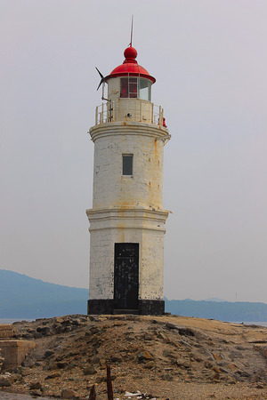Photo which shows a lighthouse for ships.