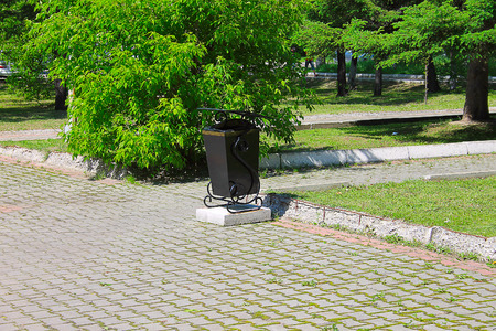 wheelie bin: Photo which shows a wheelie bin for rubbish.